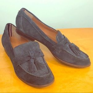 Tommy Hilfiger 💙 Blue Suede Penny Loafers 6.5